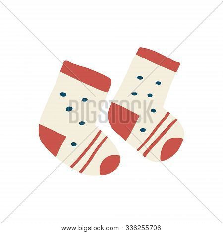 Bright Banner Warm Little Colorful Socks Couple. Winter Accessories Warming Feet Child, Beige Base R