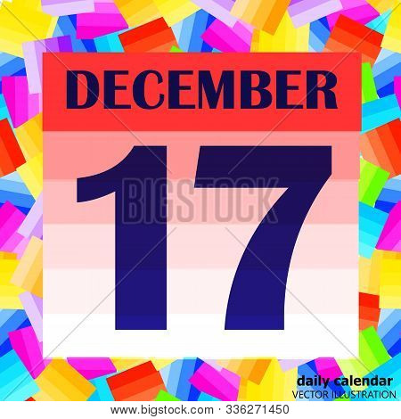 December 17 Icon. For Planning Important Day. Banner For Holidays And Special Days. Seventeenth Of D