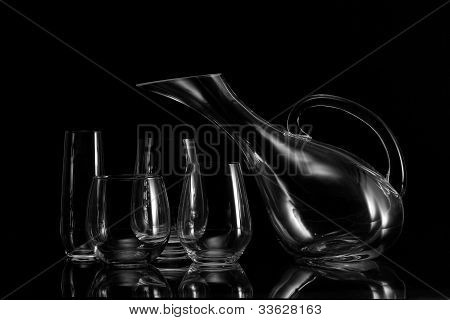 Still Life With Wine Glasses And Pitcher