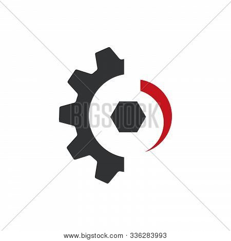 Creative Simple Gear Logo Design. Gear And Cogs Vector. Sign Of Machine Work Design Modern Industry