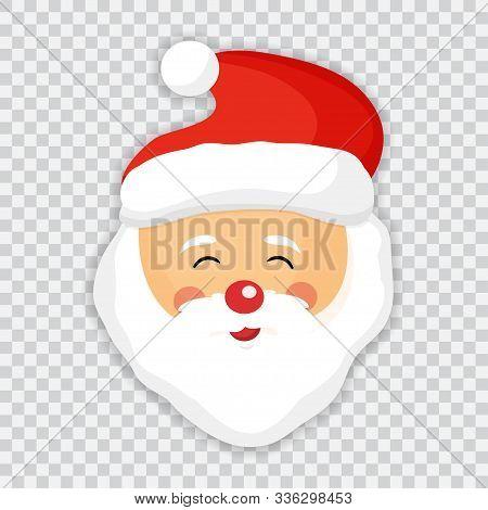 Cute Santa Clause Isolated Icon. Santa Vector Illustration