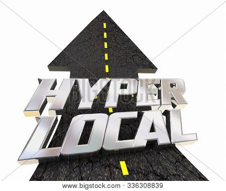 Hyper Local Targeted Campaign Road Words 3d Animation