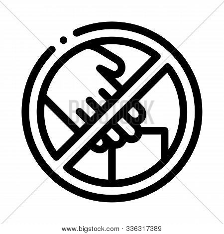 Shoplifting Prohibition Icon Vector. Outline Shoplifting Prohibition Sign. Isolated Contour Symbol I