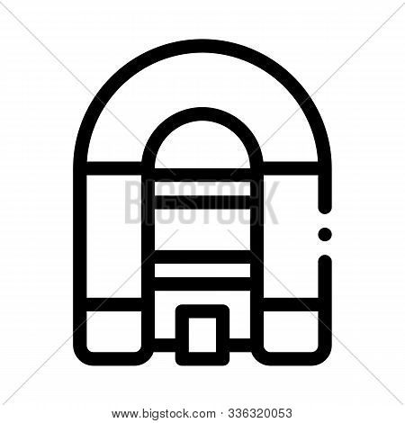 Inflatable Spacious Boat Icon Vector. Outline Inflatable Spacious Boat Sign. Isolated Contour Symbol