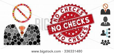 Mosaic Mister No Icon And Distressed Stamp Watermark With No Checks Text. Mosaic Vector Is Formed Wi