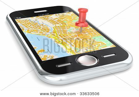Navigation Via Smart Phone.