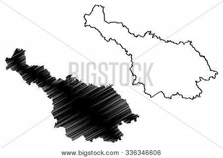 Cavan County Council (republic Of Ireland, Counties Of Ireland) Map Vector Illustration, Scribble Sk