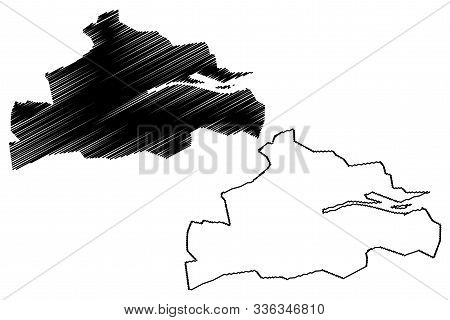 Cork City Council (republic Of Ireland, Counties Of Ireland) Map Vector Illustration, Scribble Sketc