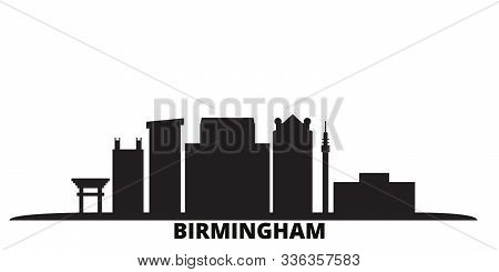 United States, Birmingham City Skyline Isolated Vector Illustration. United States, Birmingham Trave