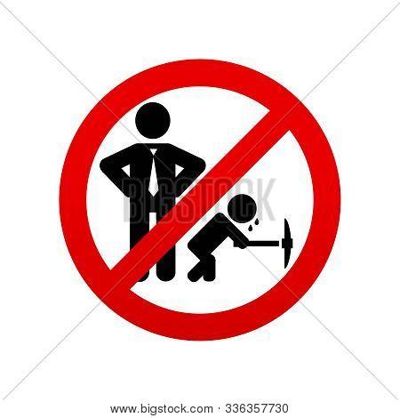 No Child Labour Icon. Stop Child Labour. Vector Icon.