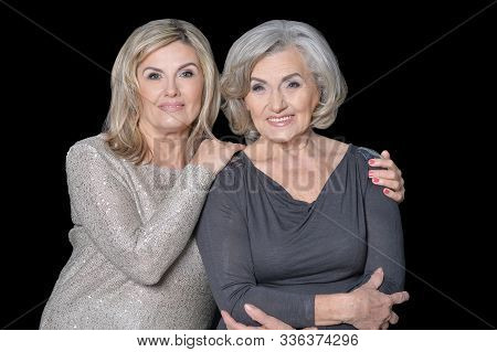 Close Up Portrait Of Beautiful Senior Women Isolated