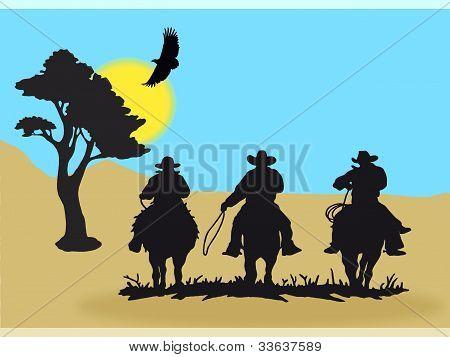 Cowboys silhouette