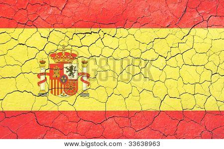 Faded Cracking Spanish Flag