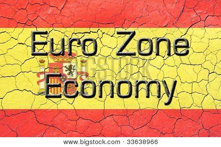Euro Zone Economy Spanish Flag