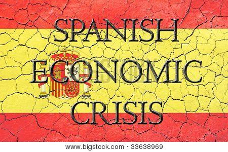 Spanish Economic Crisis Flag