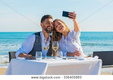 Couple On The Beach The Valentines Day