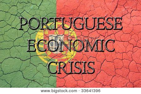 Portuguese Economic Crisis Flag