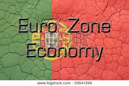 Euro Zone Economy Portuguese Flag