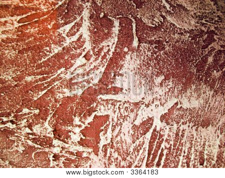 Red Wall Ornamented Texture