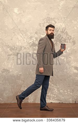 Trendy Man With Beard. Brutal Bearded Hipster In Denim Wear. Casual Style. Modern Life. Male Fashion
