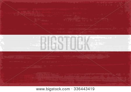 Latvian National Flag Isolated Vector Illustration. Travel Map Design Graphic Element. Europe County