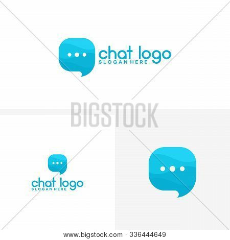 Modern Communications, Chat, Consult Logo Vector Template