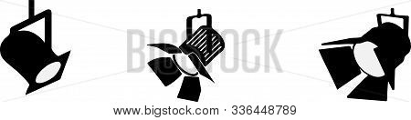 Spotlight Icon On White Background  Theater, Theatre, Vector