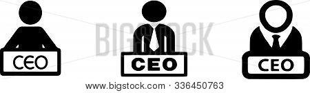 Ceo Icon On White Background Speaker, Speech