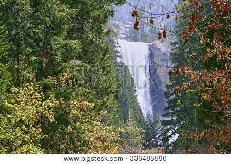 The Vernal Fall In Yosemite National Park