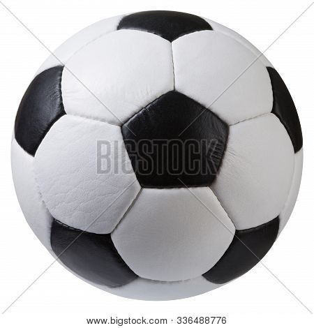 White With Black Soccer Ball On A White Background, Classic Design