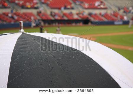 Rainy Day At The Baseball Game