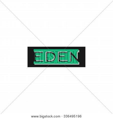 Eden Logo Design Template, Black, Green, Wordmark Logo Concept