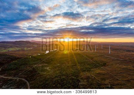 Sunrise Over A Peatbog By Bonny Glen, Portnoo, In County Donegal - Ireland