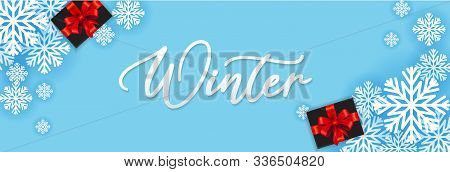 Winter, Winter Sale, Winter Gift, Winter Greeting Card, Winter Background, Winter Banner, Realistic