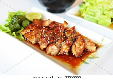 Teriyaki grilled chicken