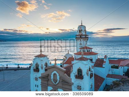 Aerial View Of The Basilica In Candelaria Near The Capital Of The Island - Santa Cruz De Tenerife On