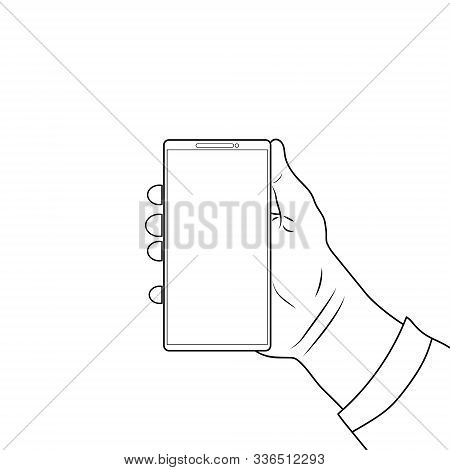 Phone In Hand, Blank For Anything, Modern Technology, Social Networks