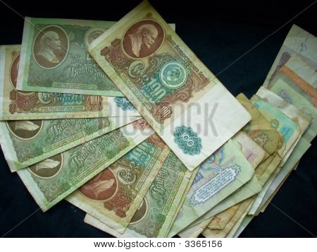Retro Soviet And Russian Banknotes