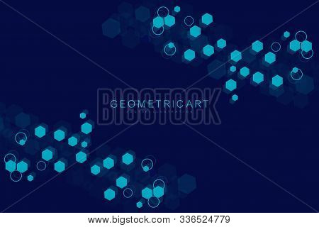 Technology Connection Digital Data And Big Data Concept. Modern Futuristic Background Of The Scienti