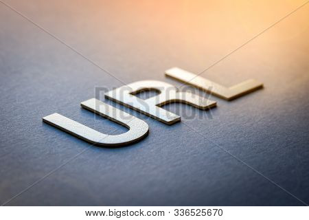 Word Url Written With White Solid Letters On A Board