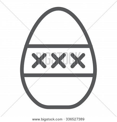 Egg Masturbation Line Icon, Sex Toy And Adult, Masturbate Sign, Vector Graphics, A Linear Pattern On