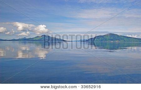 Calm Day In The Ocean Near Alaska