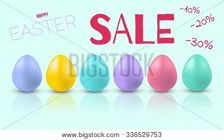 Easter eggs postcard, banner for Easter vector/ Happy Easter, easter bunny, easter background, easter banners, easter flyer, easter design,easter with flowers on red background, Copy space text area, vector illustration.