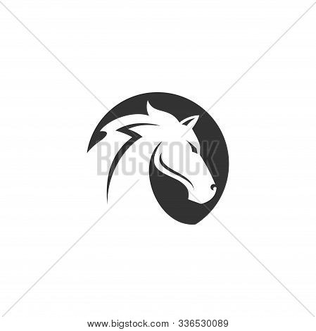 Horse Head Sign. Horse Head Icon. Horse Head Vector Logo Illustration Isolated On White Background.
