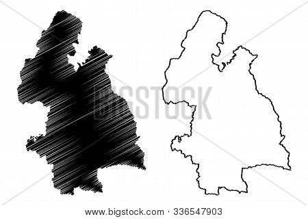 Tipperary County Council (republic Of Ireland, Counties Of Ireland) Map Vector Illustration, Scribbl
