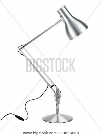 Silver Anglepoise Lamp With Clipping Path