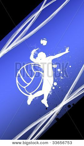 Volleyball background with space (poster web leaflet magazine) poster