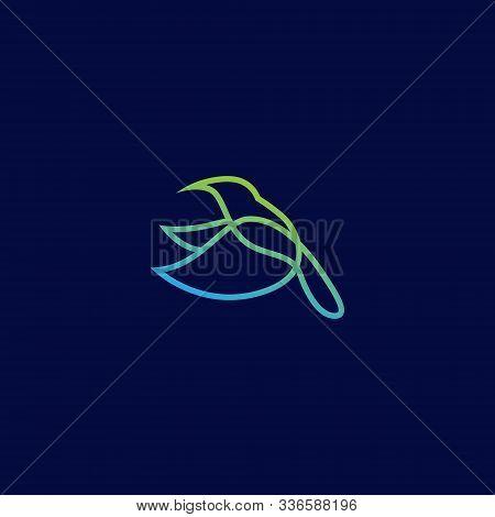 Hummingbird Logo. Flying Hummingbird Logo. Line Art Hummingbird Logo Icon. Modern Hummingbird Logo D