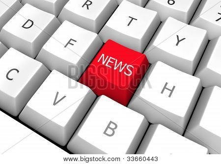 News Keyboard Button