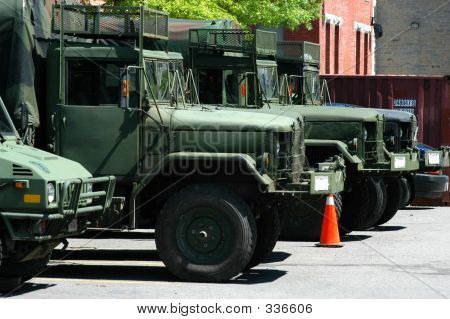 Green Army Trucks